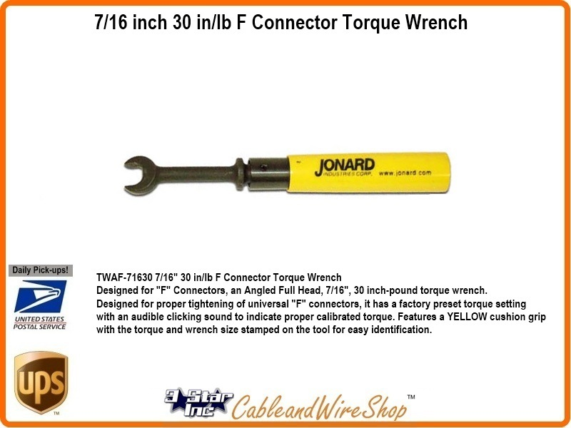 7 16 Inch 30 In Lb F Connector Torque Wrench Jonard Twaf 71630